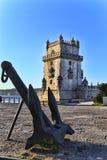 Belem torn - Torre De Belem i Lissabon Fotografering för Bildbyråer