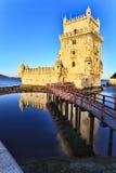 Belem torn - Torre De Belem i Lissabon Arkivfoto
