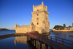 Belem torn - Torre De Belem i Lissabon Arkivfoton
