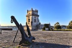 Belem torn - Torre De Belem i Lissabon Royaltyfri Foto