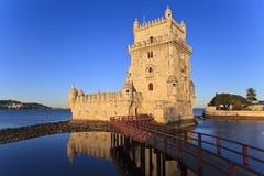 Belem torn - Torre De Belem i Lissabon Royaltyfri Bild