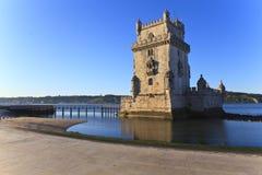 Belem torn - Torre De Belem i Lissabon Arkivbild