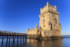 Belem torn - Torre De Belem i Lissabon, Arkivbilder