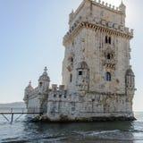 Belem torn (Torre de Belem) i Lissabon, Portugal Arkivfoton