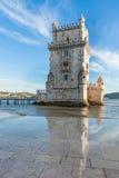 Belem torn - Torre de Belem i Lissabon, Portugal Arkivfoton