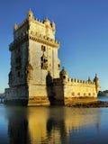 Belem torn, Torre de Belem, Lissabon, Portugal Arkivfoto