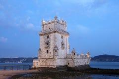 belem torre De Półmrok Lisbon obraz stock