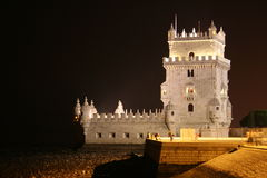 Belem Tower. At Night Stock Image