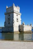 Belem tower. Three quarter view of belem tower in lisbon Stock Photo