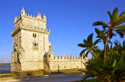 Belem Tower. Photo of Belem Tower at sunset in Lisbon Portugal Royalty Free Stock Photography