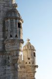 Belem tower. Detail on blue sky Royalty Free Stock Images