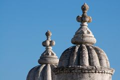 Belem tower. Detail on blue sky Stock Photos