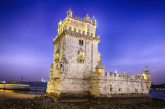 Belem tower. In Lisbone city, Portugal Royalty Free Stock Photos