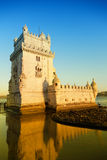 Belem Tower. On a sunset, Lisbon, Portugal Stock Images