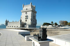 Belem Tower. Monument to the saga of the Portuguese navigators discoveirng new worlds in the XV & XVI centuries, Belem,Lisbon,Portugal,E.U. This tower is lika an Royalty Free Stock Photo