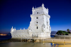 Belem Tower. Photo of Belem Tower at night in Lisbon Portugal Royalty Free Stock Images