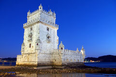 Belem Tower. Photo of Belem Tower at night in Lisbon Portugal Stock Photography