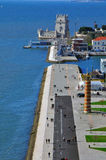 Belem tower from above Stock Images