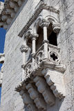 Belem Tower Balcony in Lisbon Royalty Free Stock Photography