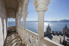 Belem Tower - balcony Stock Images