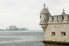 Belem Tower detail in Lisbon, Portugal Stock Photos