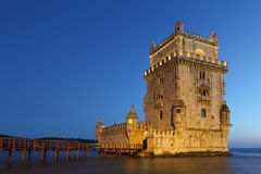 Belem Tower at dusk Royalty Free Stock Photo