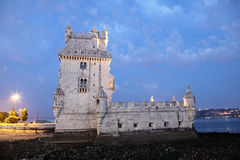 Belem Tower at dusk, Lisbon Royalty Free Stock Photography
