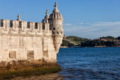 Belem Tower Fortification on the Tagus River Royalty Free Stock Image