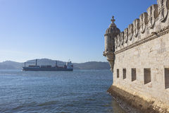 Belem Tower - lateral view Royalty Free Stock Images