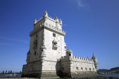 The Belem Tower in Lisbon. View ot the Belem Tower in Lisbon Royalty Free Stock Images