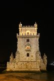 Belem tower in lisbon. Night view belem tower in lisbon Stock Photos