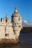 Belem Tower Lisbon. Exterior details of Belem Tower, Lisbon city, Portugal royalty free stock images