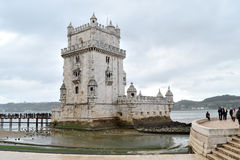 Belem tower in lisbon city, europe. The Belem tower of Lisbon city, on the banks of the Tagus river Royalty Free Stock Image