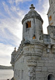 Belem. Tower in Lisbon, details royalty free stock image