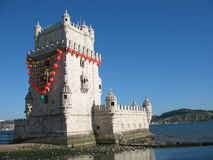 Belem tower in Lisbon. The famous Belem  tower in Lisbon, Portugal Stock Photos