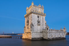 Belem Tower in Lisbon Stock Image