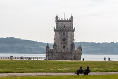 Belem Tower in  Lisbon. Stock Photo