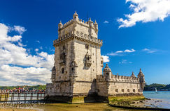 Belem tower in Lisbon. Portugal Royalty Free Stock Photo
