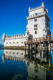 Belem tower in Lisbon, Portugal.  royalty free stock images