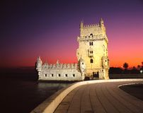 Belem tower, Lisbon, Portugal. Royalty Free Stock Photos