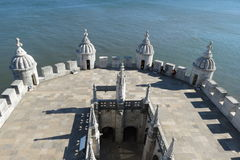 Belem Tower. Lisbon, Portugal, Belem Tower - defensive structure dating back to the XVI century Royalty Free Stock Photos
