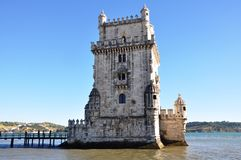Belem Tower, Lisbon, Portugal. The most important tower in Lisbon Royalty Free Stock Images