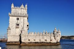 Belem Tower, Lisbon, Portugal. The most important tower in Lisbon Royalty Free Stock Image