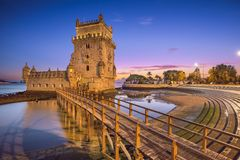 Belem Tower of Lisbon royalty free stock images