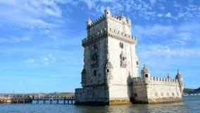 Belem tower, Lisbon, Portugal stock video