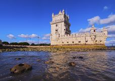 Belem Tower in Lisbon. Tower of St Vincent in Belem, Lisbon, Portugal Stock Photography