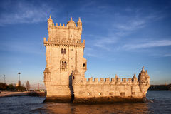 Belem Tower in Lisbon at Sunset Royalty Free Stock Image