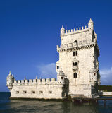 Belem Tower, Lisbon. Torre de Belem (Belem Tower) on the Tagus River guarding the entrance to Lisbon in Portugal Stock Photos