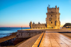 Belem tower in Lisbone city, Portugal Royalty Free Stock Images
