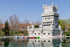 Belem Tower in Madrid. Playing the Tower Park Belen in Europe, Madrid, Torrejón de Ardoz, Spain Royalty Free Stock Photo